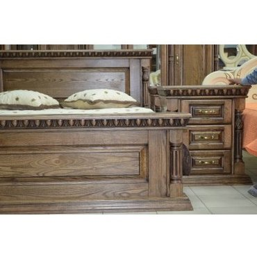 Деревянная кровать Олимп