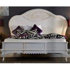 Кровать MАТТЕО Avorio Patinato 1600/1800 круглое деревянное изголовье