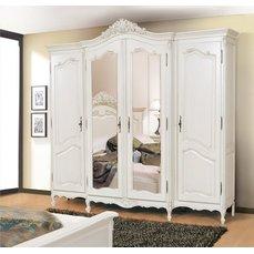 Шкаф 4-х дверный Mogador Ivoire с зеркалами