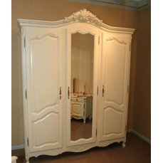Шкаф 3-х дверный Mogador Ivoire с зеркалом