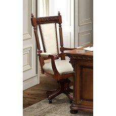Поворотный стул VENETIA LUX с подлокотниками (кожа)