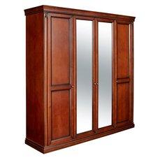 Шкаф 4-х дверный Angelica с зеркалом