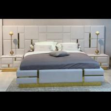 Кровать Del Arte 1600 с широким изголовьем