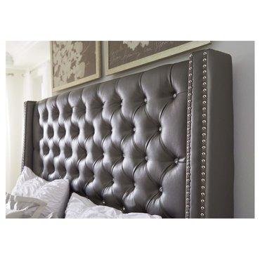 Деревянная кровать Coralayne King B650-76-78 экокожа