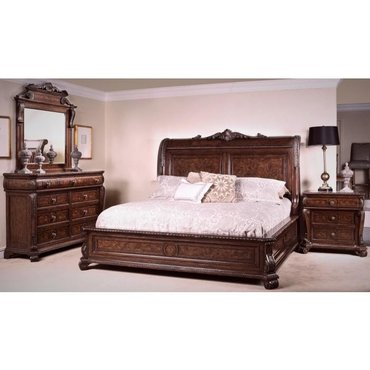 Деревянная кровать Vintage B2161-14-15-16 KING
