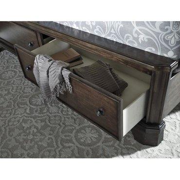 Деревянная кровать Adinton B517-56S-58-99 KING с ящиками