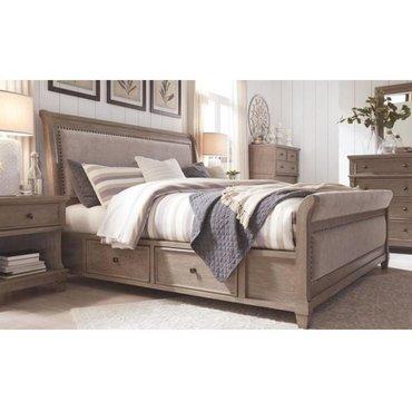 Деревянная кровать Challene B804-50-54-57-96S QUEEN с ящиками