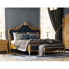 Кровать деревянная низкое изножье ИМПЕРИЯ King