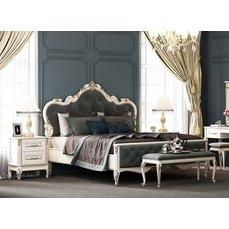 Кровать деревянная высокое изножье ИМПЕРИЯ King