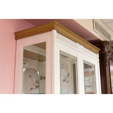 Витрина 2-х дверная боковины из стекла МАРСЕЛЬ