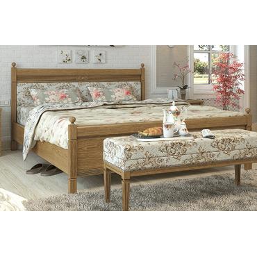 Кровать деревянная Текстиль МАРСЕЛЬ Queen
