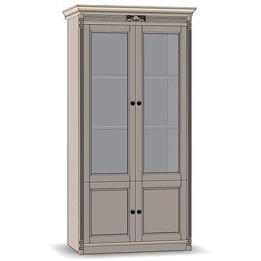 Витрина 2-х дверная боковины из шпона МАРСЕЛЬ