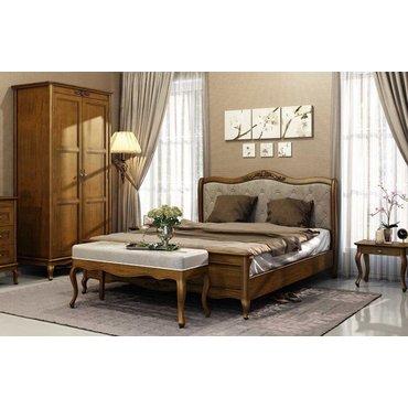 Кровать деревянная высокое изножье ПАЛЕРМО King