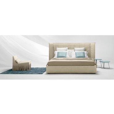 Двуспальная кожаная кровать с ушками Модель 42