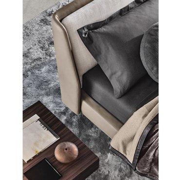 Двуспальная кожаная кровать Модель 65