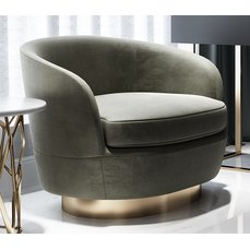 Кресло em84 с круглым основанием