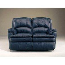 Кожаный диван реклайнер двухместный Carolina