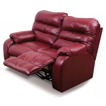 Кожаный диван реклайнер двухместный Dakota