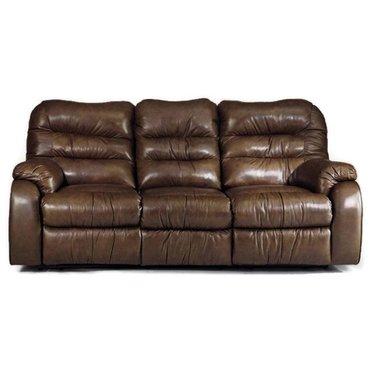 Кожаный диван реклайнер трехместный Dakota