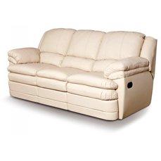 Кожаный диван реклайнер трехместный Georgia