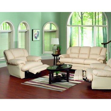 Кожаный диван реклайнер трехместный Indiana