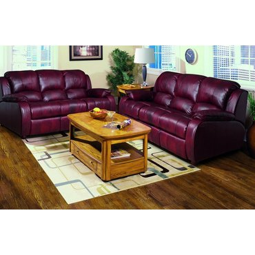 Кожаный диван реклайнер трехместный Minnesota