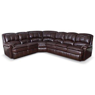 Угловой диван кожаный Carolina