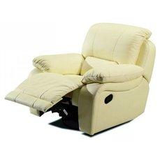 Кресло реклайнер кожаное California