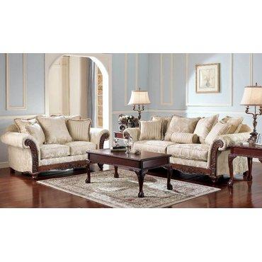 Комплект мягкой мебели Brilliance - Alabaster 18100-38-36-13-21