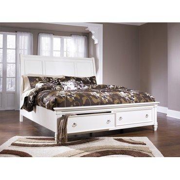 Деревянная кровать King Prentice с ящиком B672-76-78-99