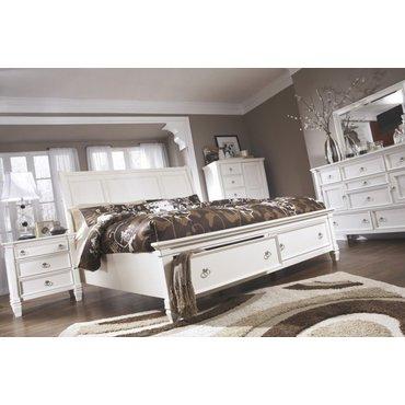 Деревянная кровать Queen Prentice с ящиком B672-74-77-98