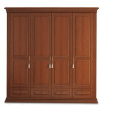 Шкаф 4-х дверный с ящиками Омега Люкс OLSH-04