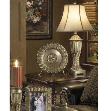 Настольная лампа с абажуром Rosemond L509904