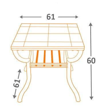 Стол кофейный Antigo T233-2